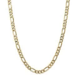 14k Yellow Gold 7 Mm Flat Figaro Link Chain Necklace 26 Msrp 5816