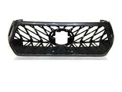 Fit For Toyota Hilux Revo Rocco 2018-2019 Black Front Grille Grill Lexus Style