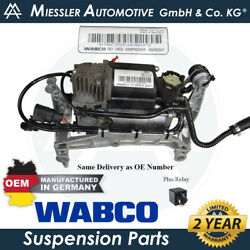 Porsche Cayenne 955/9pa Oem Air Suspension Compressor, Mount And Relay 95535890105