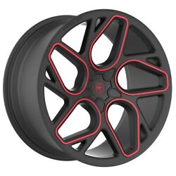 4 GWG BREMEN 20 inch Satin Black Red Mill Rims fits CHEVY IMPALA 2000 - 2013