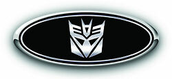 Ford Focus St/rs 3 Pc Kit Transformers Decepticon Overlay Logo Emblem Decals
