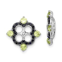 Sterling Silver Birthstone and Earring Jacket (10.5 x 11 MM) MSRP $326