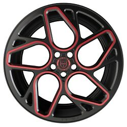 4 GWG BREMEN 20 inch Satin Black Red Mill Rims fits LAND ROVER RANGE ROVER AUTOB