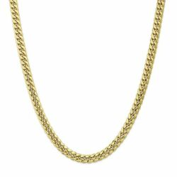 10k Yellow Gold 7.3 Mm Semi-solid Miami Cuban Link Chain Necklace Msrp 3213
