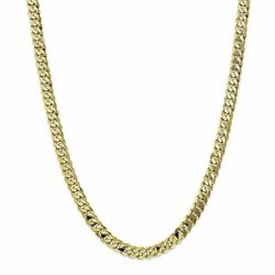 10k Yellow Gold 6.75 Mm Flat Beveled Curb Link Chain Necklace Msrp 3281