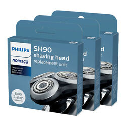 Philips Norelco Sh90 Shaving Replacement Heads For S9031 Model 3 Pack