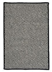 Outdoor Houndstooth Tweed Black Braided Area Rug/runner. Many Sizes. Ot49