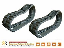 2 Pcs Rubber Track 16 Wide, 400x86x55, Case 445 450 Ct Skid Steer