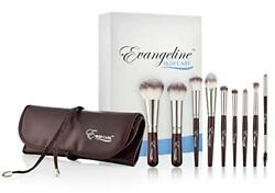 Makeup Brush Set with PU Leather Bag – Professional Cosmetic Brushes Created