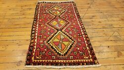 Beautiful Antique 1930-1940's Natural Dye Cushion Cover Wool Pile Rug From Sivas