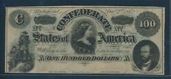Csa T-49 1862 100 Lucy Pickens Conf States Of America Note Choice Cu Hw4801