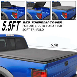 Soft Tri-Fold Tonneau Cover Lock For 14-2018 Ford F-150 5.5' Short Bed