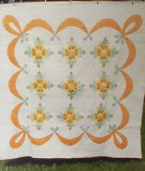 Aa+ Signed And Dated 1934 Rose Of Sharon Ohio Rose Quilt