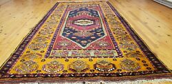 Exclusive Antique 1940-1950and039s Natural Colors Wool Pile Tribal Area Rug4andrsquo5andrdquox8andrsquo6andrdquo