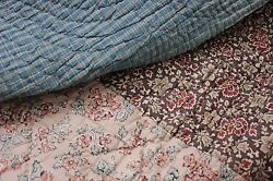 Antique French Piquee Boutis Quilt C1795 - 1820 Large Printed 102x108