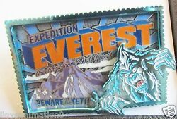 Disney Wdw Expedition Everest Beware Of The Yeti Artist Proof Pin