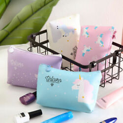 3pcs Unicorn Makeup Pouch Waterproof Printed Makeup Bag Cosmetic Pouch for Teens