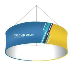 10and039 X 3and039 Fabric Circle Hanging Sign Trade Show Ceiling Banner Display