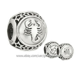 Zodiac Scorpio Star Sign Authentic Pandora Sterling Silver Charm Bead 791943