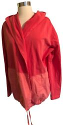 New Women's Evy's Tree Coral Hooded Cardigan Active Sweater Size Large