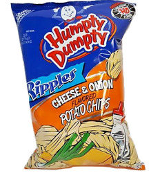 Humpty Dumpty Potato Chips - Cheese & Onion - 7oz Bag Pack of 6 - Free Shipping