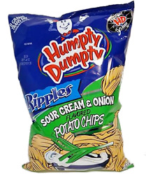 Humpty Dumpty Potato Chips - Sour Cream & Onion - 7oz Bag Pack of 6 - Free Ship