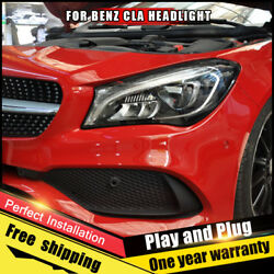 2PCS New For Benz CLA Headlights assembly 2014-2019 Bi Lens All LED Double Beam