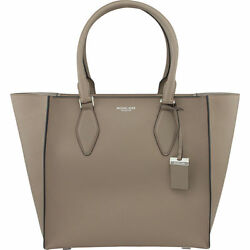 NWT $1290 MICHAEL KORS COLLECTION Gracie Large Satchel  Handbag Dk Taupe Italy
