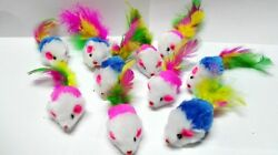 Fur Mice Cat Toys Soft and Durable for Play Catnip Mice for kittens. 10 Pack