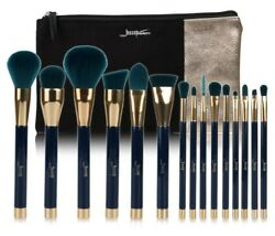 Makeup Brushes Sets Synthetic Hair Beauty Tool Cosmetics Bags PU Leather Women
