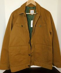 Nwt Gap Menand039s Lined Field Jacket Coat Sizes Small And 2xl Msrp90 New Free Ship