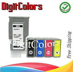 Any 4 Of 5 Color Ink Cartridge Pfi-207 Fit Canon Ipf 680 685 780 785