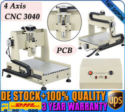4 Axis CNC3040 Router Engraver Engraving Drilling Milling Alloy Machine WOOD PCB