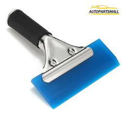 Rubber Squeegee W/ Handle Vinyl Window Glass Tint Wrapping Cleaning Car Tools Us