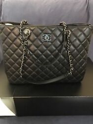BRAND NEW w/TAGS CHANEL Classic Large Calf Skin Shopping Tote Bag 100% AUTHENTIC