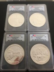 2011 Firststrike Pcgs Ms69pl 4 Coins 5 Oz Silver