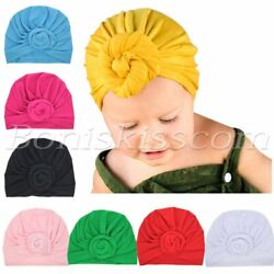Soft Cute Newborn Baby Girl Toddlers Hats Turban Knotted Headbands Headwrap Set