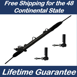 134+2 Power Steering Rack For 04-2008 Chrysler Pacifica + 2 New Outer Tie Rod