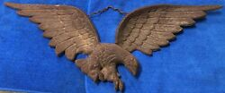 VINTAGE AMERICAN EAGLE OUT DOOR WALL HANGING DECOR - COPPER ? NUMBERED HALLMARK