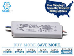 Mean Well Lpv-35-12 Power Supply / Led Driver 90-264 Vac Input 36w 3a 12v Output