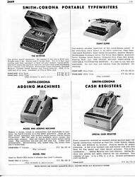1958 Print Ad Of Smith-corona Cash Register And Typewriter Skyriter, Silent-super