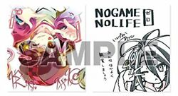 No game no life zero six weeks duplication autographed colored paper