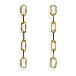 Love Link Chain Earrings Sterling Silver And 18k Gold Plated