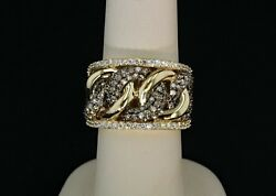 Le Vian 14k Yellow Gold Diamond Ring With Chocolate Knot