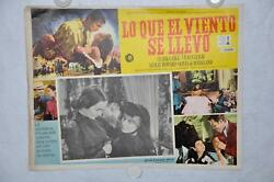Gone With The Wind 1968 Mexican Lobby Card Movie Poster Clark Gable Vivien Leigh