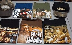 New Menand039s Bulk Lot 72 Duck Dynasty T-shirts And Caps Variety Of Designs And Sizes