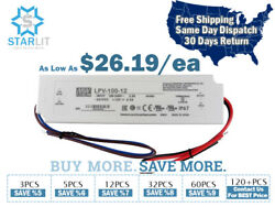 Mean Well Lpv-100-12 Power Supply / Led Driver 102w 8.5a 12v Output