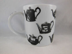 Antique Pewter Coffee Teapots Black And White Mug Designed In England Paul Cardew