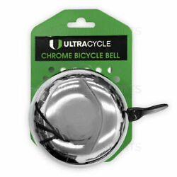 Ultracycle Big Donger Chrome Bicycle Bell Bike Loud Kids Large Classic 3 inch