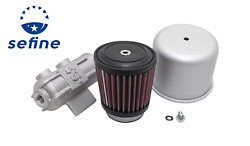 Kandn Tower Base Covered Crankcase Vent Filter W/multi-hose Vents 2in Fl Id/3in B